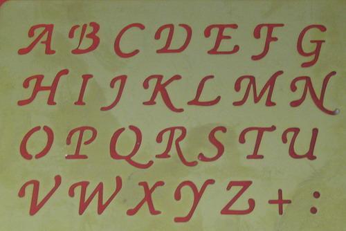 BastelBotta  Alphabet Kleinbuchstaben