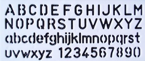 Gro�- ,Kleinbuchstaben und Zahlen