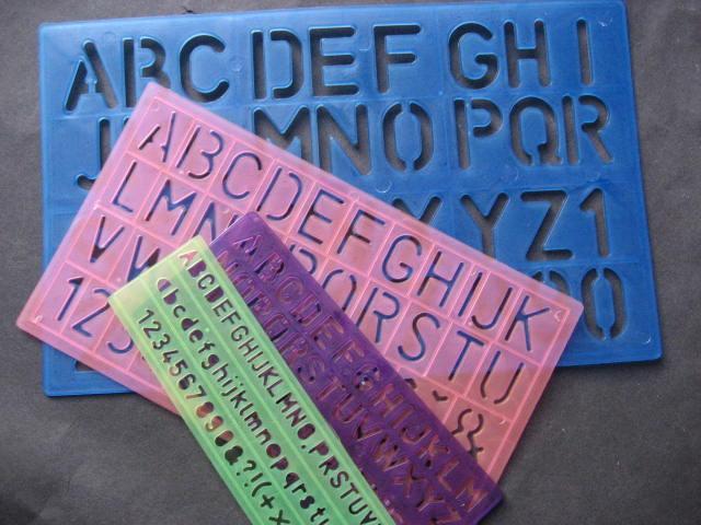 Schreibschablonen 4er Set